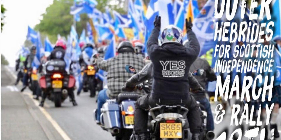 YES Bikers  Stornoway march and rally