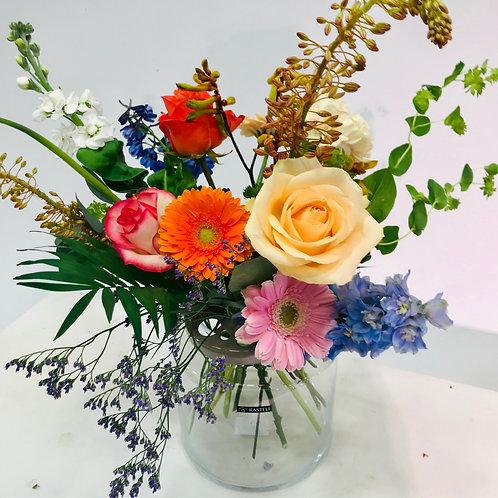 Vaas Rastelli met verse snijbloemen