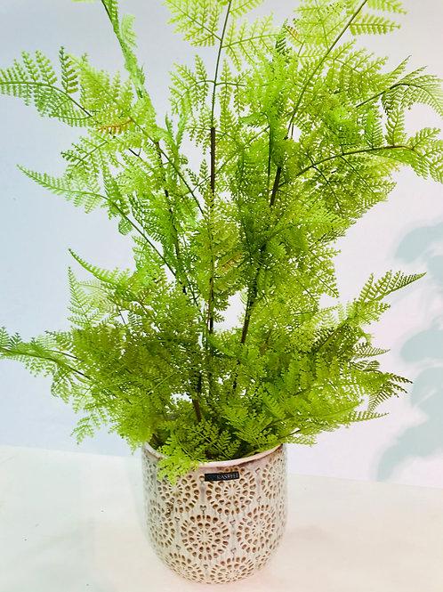 Groene (namaak) plant in pot Rastelli