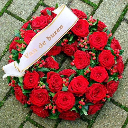 BO 25 Krans 40 cm Rode Rozen
