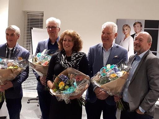Wijnand Tijssen en Inge van Basten- Winkler nemen afscheid van de raad van Stede Broec  27 maart 2018