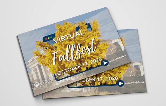 Georgia College Virtual Fallfest Postcard