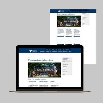 Main Undergraduate Admission Webpage