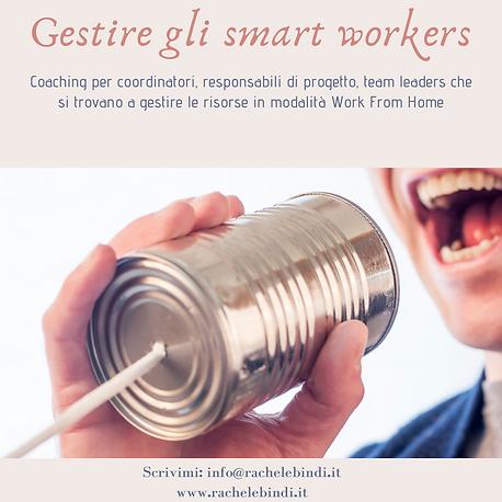 Gestire gli smart workers