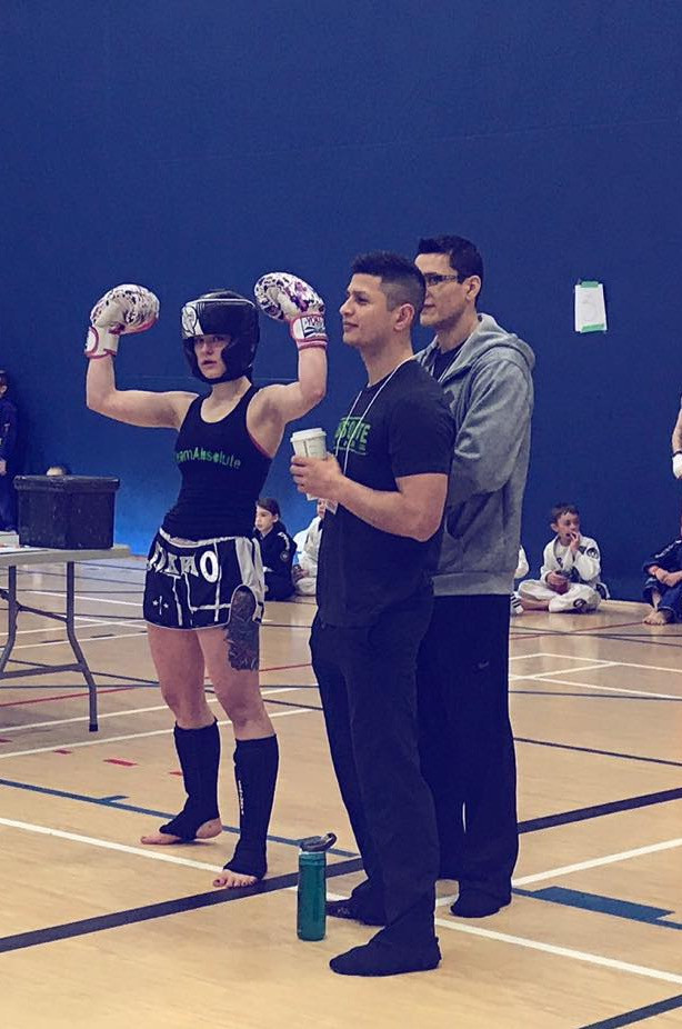 Danielle with her Coaches