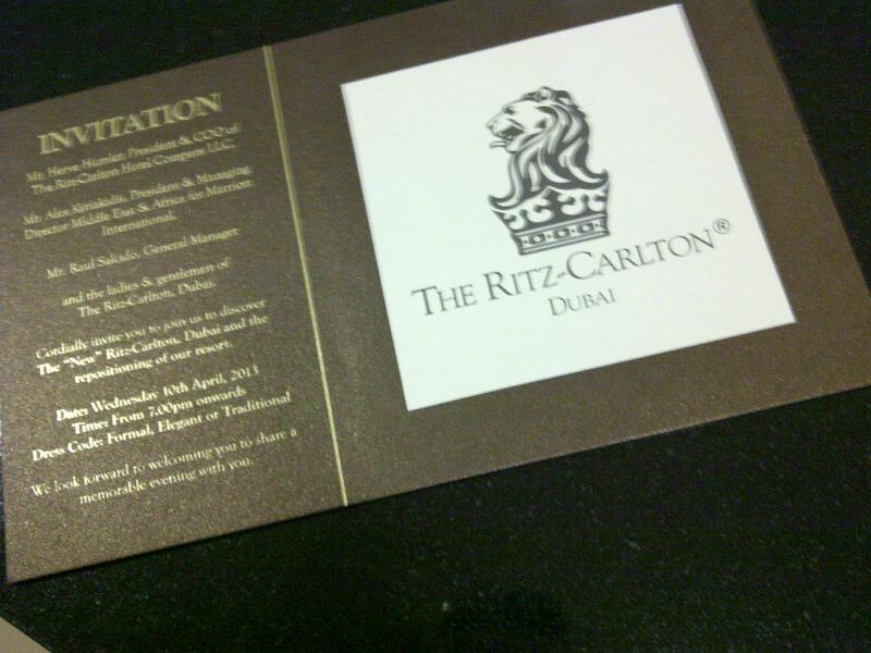 Invitation Ritz-Carlton