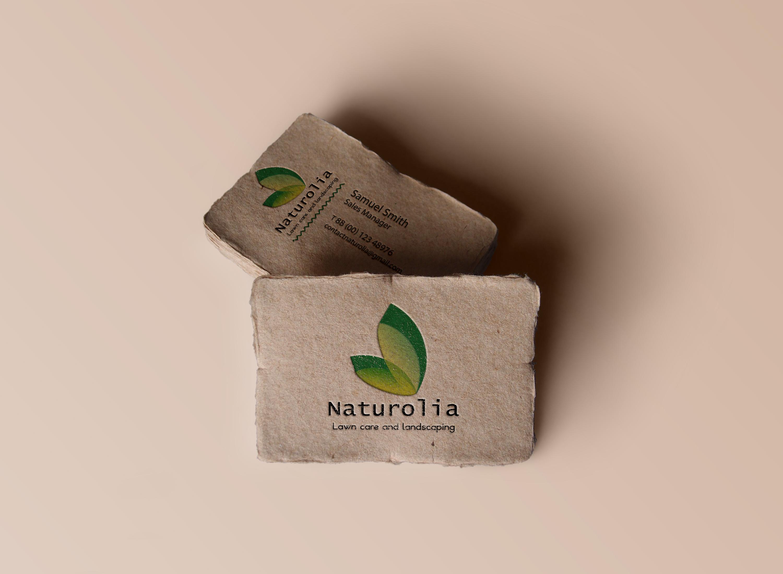 Cartes de visite en papier recyclé
