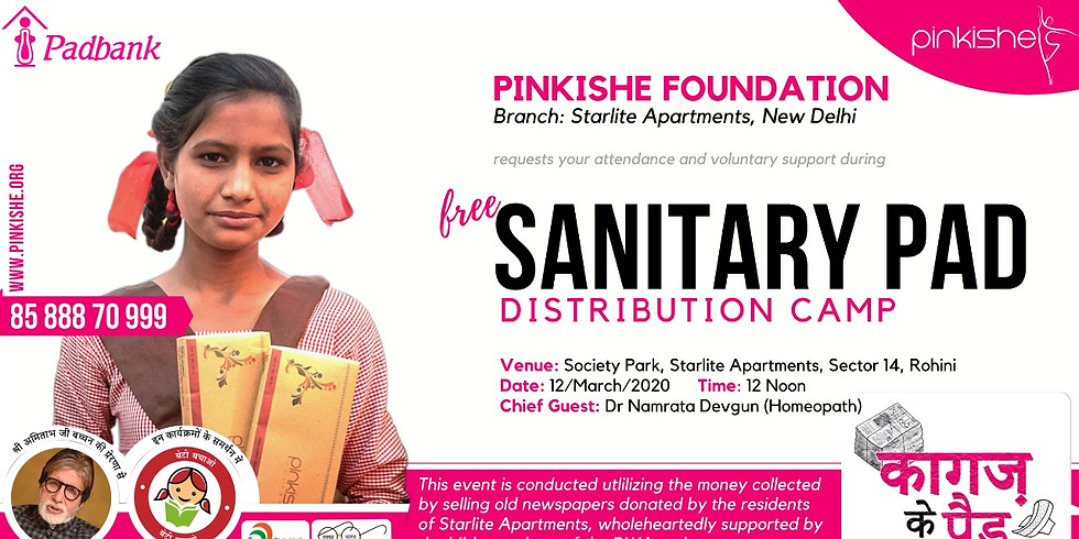 Menstrual Hygiene Awareness & Pad Distribution Camp