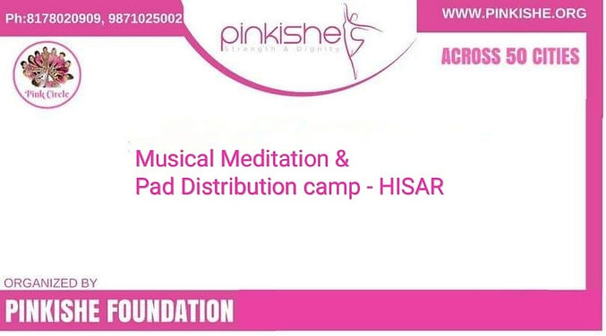 Musical Meditation & Pad Distribution Camp