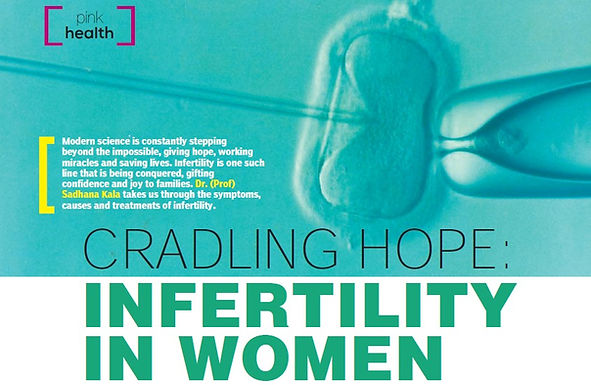 CRADLING HOPE: INFERTILITY IN WOMEN