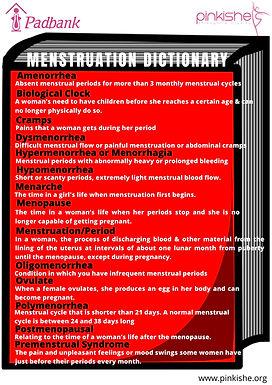 MENSTRUATION DICTIONARY