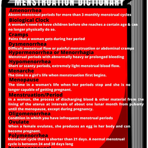 MENSTRUATION DICTIONARY