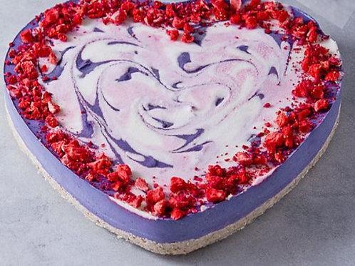 Bezlepkový Raw Blueberry Cake srdce, celá torta (1 110 g)