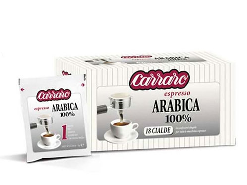 Carraro - pody arabica 7g, 50ks