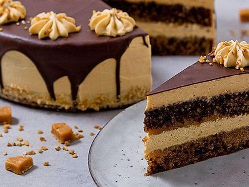 Bezlepkový Nut&Caramel Cake, polovica torty (6 ks, 970 g)
