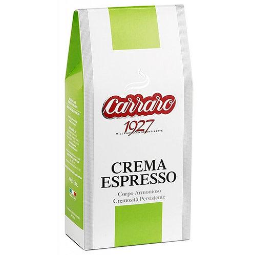 Carraro Crema Espresso, 250g mletá / 1kg zrnková