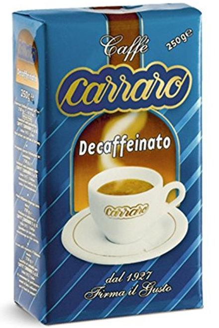 Carraro decaffeinato 250g mletá
