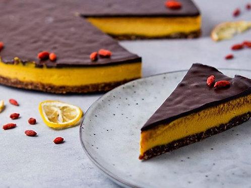 Bezlepkový Raw Orange Goji Cake, polovica torty (6 ks, 500 g)
