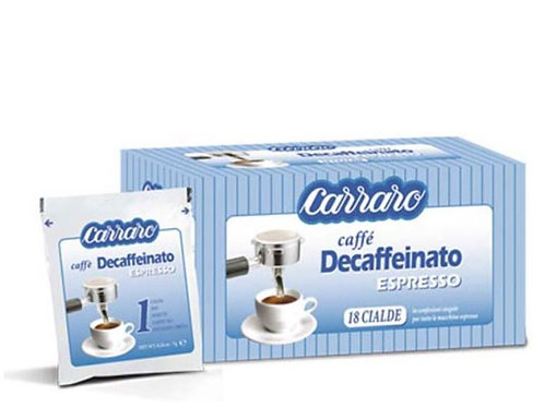 Carraro - pody decaffeinato 7g, 50ks