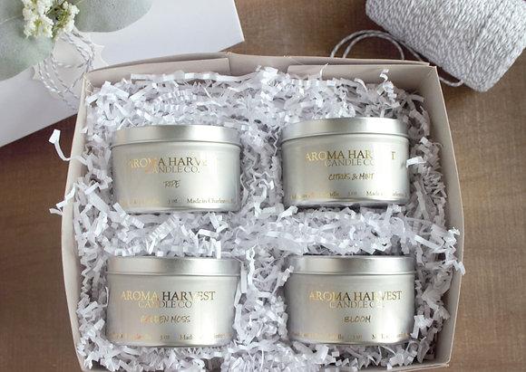 Soy Candle Gift Box Set Tins