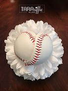 Baseball Heart Mum Centepiece #tararifficmums #hoco #homecomingmum