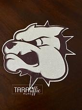 Bulldog cutout #tararifficmums #hoco #homecomingmum