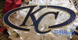 homecoming centerpiece custom cutout klein collins swoosh #tararifficmums