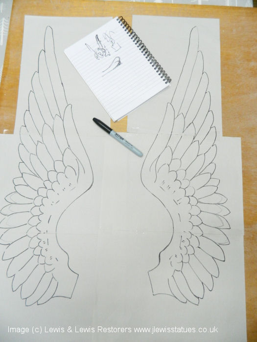 Sketch for new angel wings