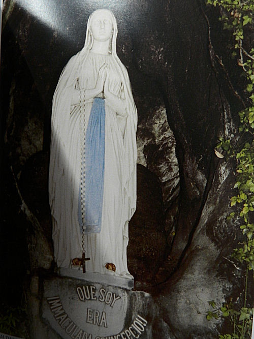 Our Lady of Lourdes sculpted by Fabisch