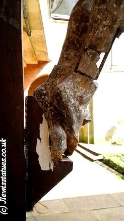 Broken ankles Oratory crucifix