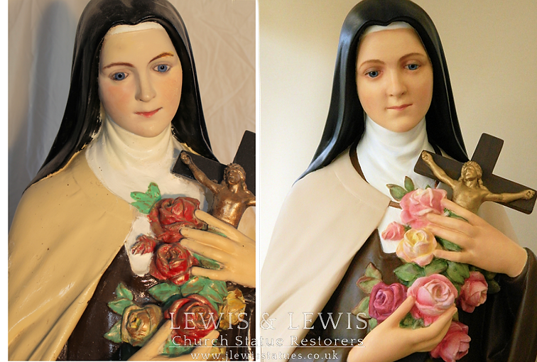 Saint Therese before & after 2 (Fr. Byrn