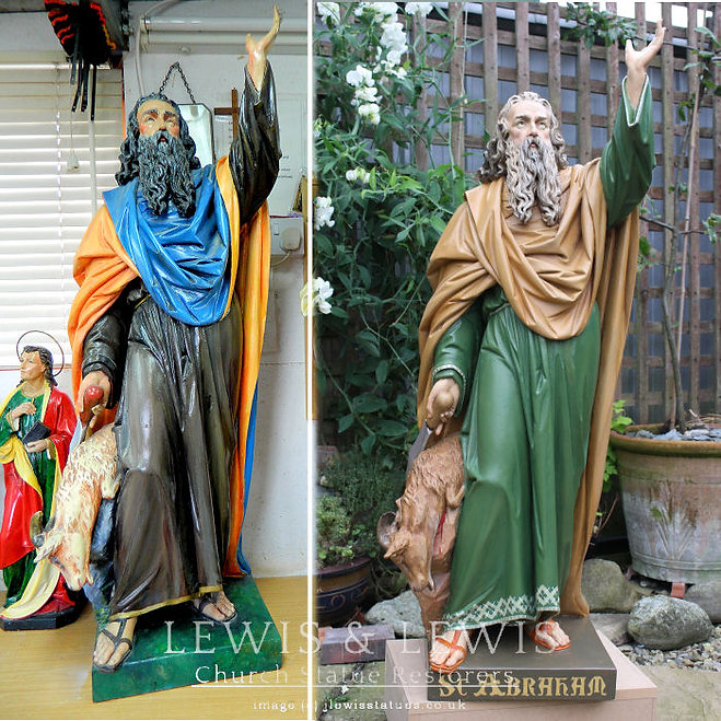 Saint-Abraham-statue-restored-Lewis-and-