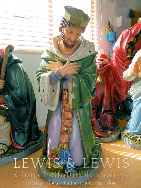 Nativity King statue awaiting restoration