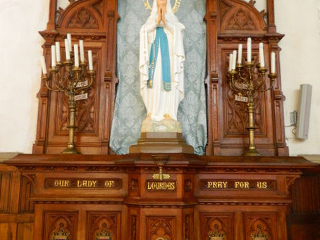 Our Lady of Lourdes restored for St. Walburgers
