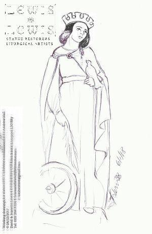 sketch-of-St.-Catherine-of-Alexandria