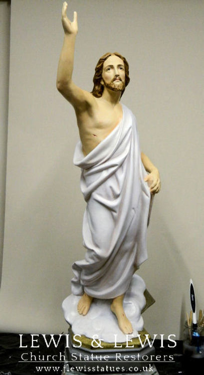 Risen Christ-plaster-statue-Fr. Firth.jp