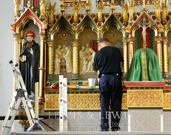 Refurbishing-Benedictine-High-altar -Rer