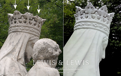 Our-Lady-statue-crown-restored-concrete.