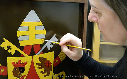 Pope-Benedict-Papal-Crest-painted-panel.