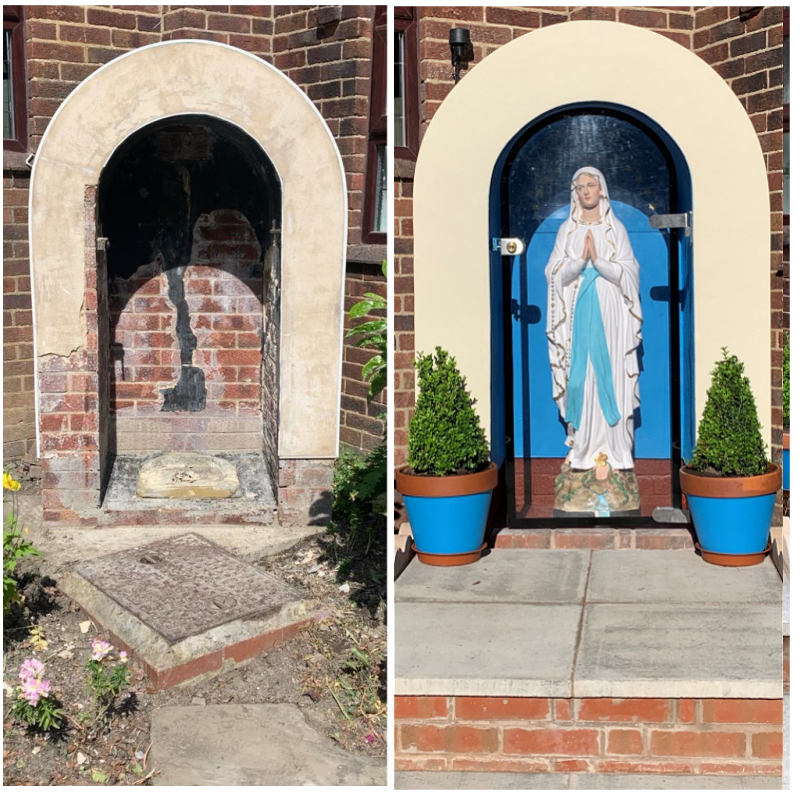 Marian shrine restored Leeds U.K.