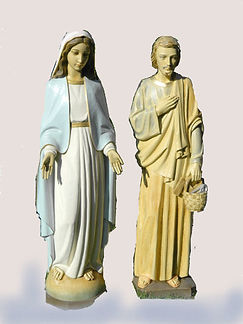 mary-&-Joseph-faded-statues-on-white-wal