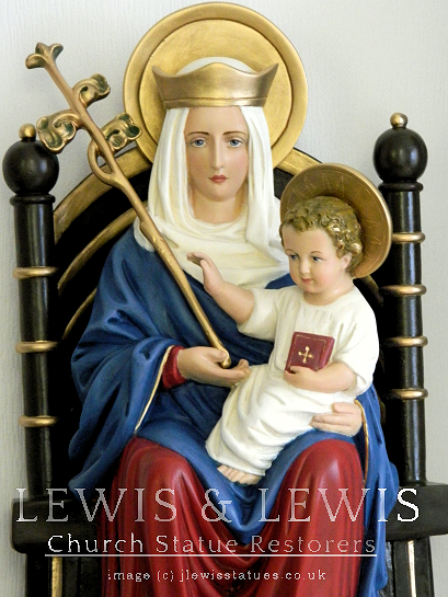 restored statue of Our Lady of Walsingham