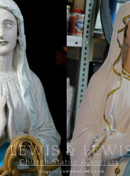 Restoration of Our Lady's Shrine.