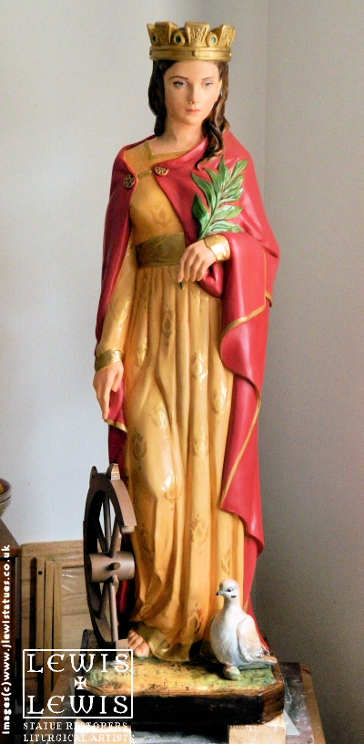 Statue-of-St.-Catherine-of-Alexandria-by-J.Lewis