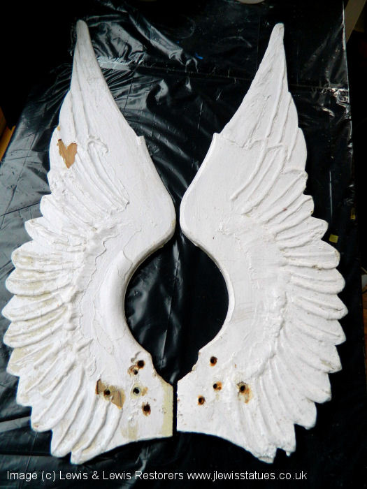Unappetising iced angel wings.