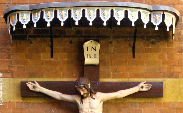 Birmingham Oratory courtyard crucifix