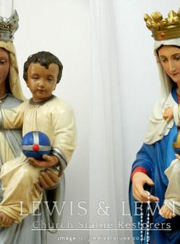 Madonna statue needs a hand