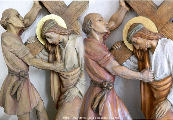 Carved-wood-station-Holy-rosary-figures.