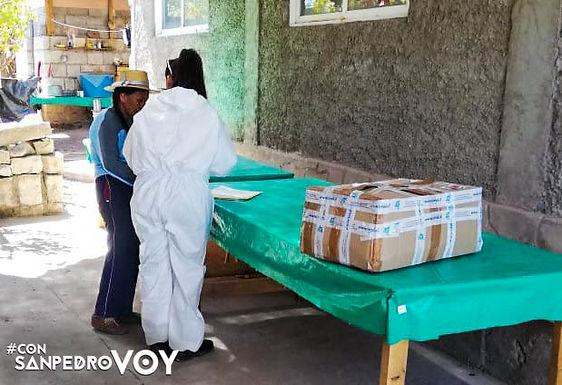 Familias en poblados y ayllus recibieron ayudas sociales del municipio de San Pedro de Atacama