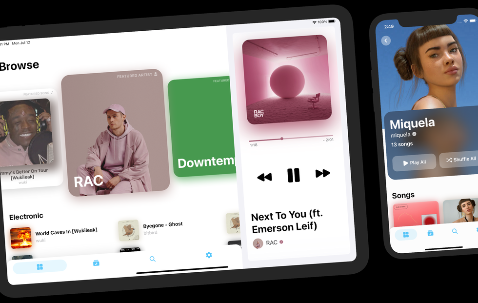 BOLD Music iPad and iPhone